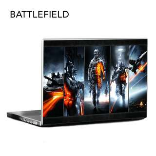 Customized Laptop Stickers - Battlefield Collection