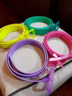 Neon Golf Belts