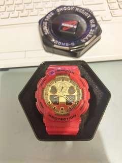 G-SHOCK手錶 gshock狗年限定MCHOTDOG紅色 GA-100VLA-4A CX