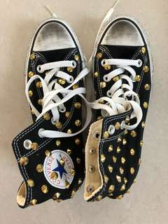Authentic Converse studded shoes