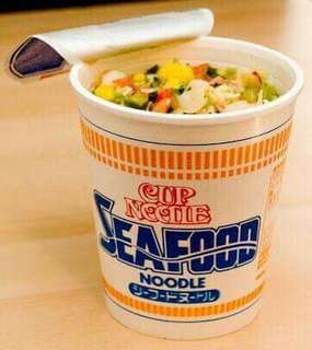 Seafood cup noodles from Japan