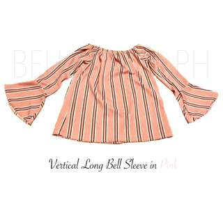 Vertical Long Bell Sleeve in Pink