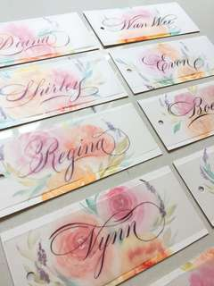 Bridesmaid Name Card / wedding place cards / placards