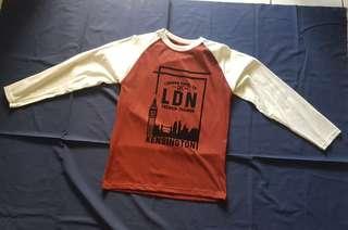 Kaos Pria Lengan Panjang Adem Maroon Merah Putih