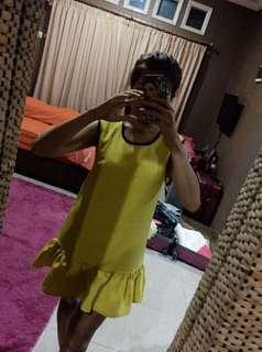 Magnolia Mini Dress Yellow