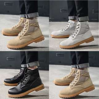Men's British Style Lace Up High Cut Boots ~ Hot Selling