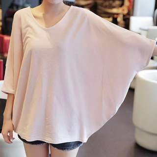 Plus size butterfly sleeves blouse top