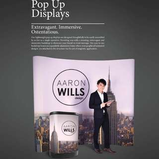 POP UP Displays (Straight) only from $374.50 !!!