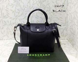 Longchamp Le Pliage Cuir Black Color