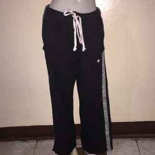 PINK BY VICTORIAS SECRET black tied jogging pants medium