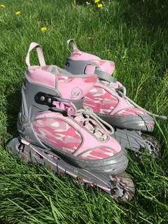Pink roller blades