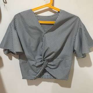 BKK stripes tie top