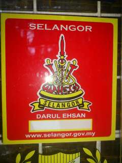 Selangor Window Car Sticker