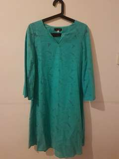 Turquoise Top with Skirt