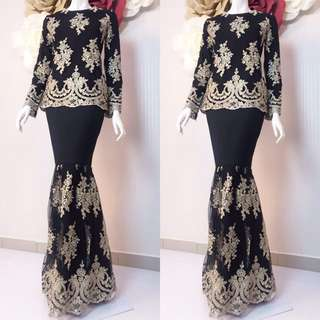 💕Lily exclusive 💕  Material : high lace with full lining skirt moss crepe   Size :  S M L XL