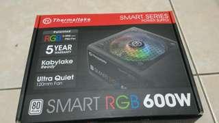 二手9.9成新 曜越 Smart RGB 600W電源供應器(PS-SPR-0600NHFAW)