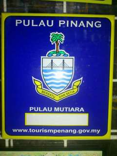 Pulau Pinang Window Car Sticker