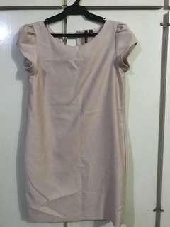 Mango Nude/ Pink Office Dress