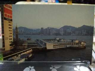 八十年代 天星碼頭 明信片