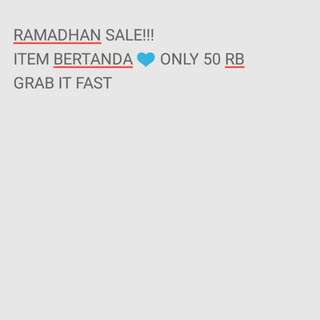 RAMADHAN SALE ALL 50 RB