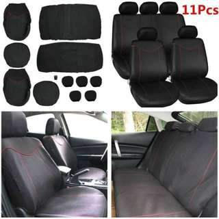 Universal 11PC FULL Car Seat Cover Set Full Seat Covers