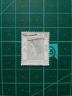 [贈品]1954 伊莉莎白二世第一組通用票 舊票一枚