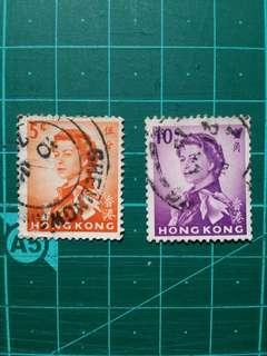 [贈品]1962 伊莉莎白二世軍裝通用票 舊票兩枚