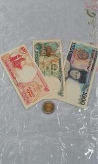 Uang Tempo Doeloe 100, 500, 1rb