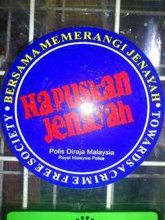 Hapuskan Jenayah Window Car Stickers