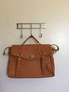 The Satchel Bag tan brown satchel 16""