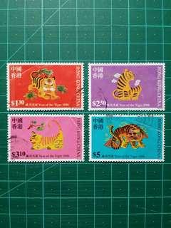 [均一價$10]1998 生肖虎年 舊票一套
