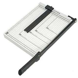 "Paper Cutter Guillotine Style 12"" X 10"" Metal Base Trimmer"