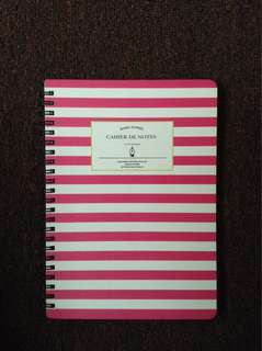 PINK Hard cover Notebook, Papemelroti Notepads and Cute Erasers