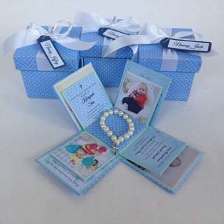 Christening box invite/souvenir