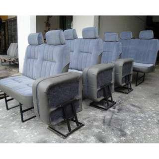 Toyota hiace nissan urvan new van seat 1 set 4 row x12 siap pasang RM2800