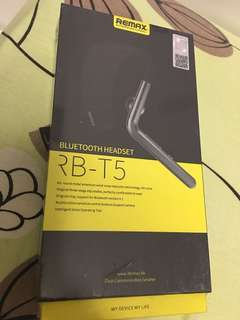 Brand new remax t5 blutooth headset