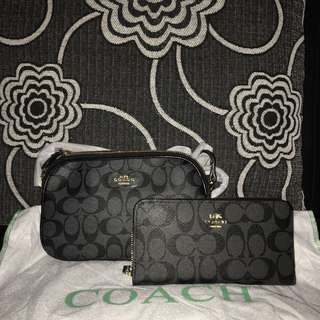 Coach sling bag with wallet