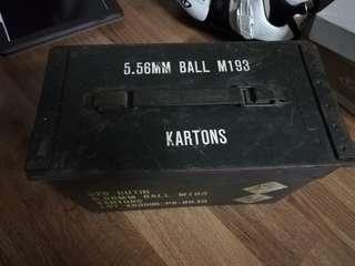 Vintage military ammo box.