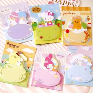 Sanrio Sticky Memo / Post It Notes / Stick Post-it Pad / Stick Marker