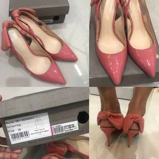 Auth💯 Dior Ins Charles & Keith Slingback Blush Pink Shoes ( REPRICED💯)