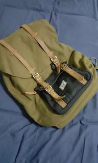 Brand new Limited edition HERSCHEL SUPPLY CO.  Army/Wool Little America Backpack
