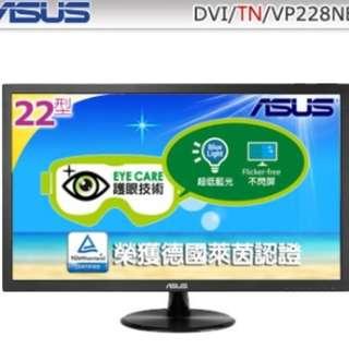 福利品 華碩 VP228NE 22吋 不閃屏低藍光/1毫秒 ASUS 電競 寬螢幕