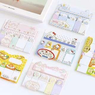 Sanrio Original Sticky Memo / Post It Notes / Stick Post-it Pad / Stick Marker