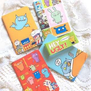 [Set of 4] Hey Ugly! - Set of 4 Ugly Dolls Notebooks.
