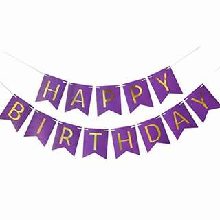Happy Birthday Banner (Purple)