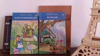 Peter Pan and Alice in Wonderland