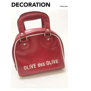 Murphys►OLIVE des OLIVE 酒紅色保齡球波士頓小包手拿包手提包百貨專櫃正品►
