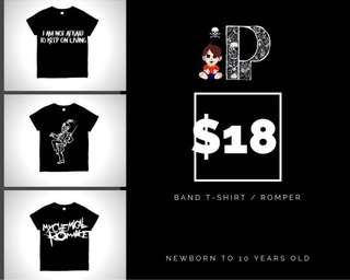 baby / kids band t-shirt or romper