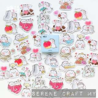 Set of 45pcs Hamsters In Love Sticker Pack