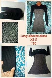 Knitted Long sleeves Dress